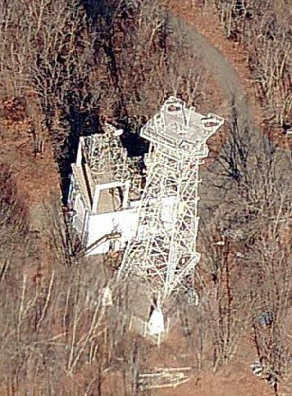 An Aerial Photo Of The Microwave Tower Found On Bing Maps